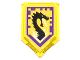 Part No: 22385pb015  Name: Tile, Modified 2 x 3 Pentagonal with Nexo Power Shield Pattern - Storm Dragon