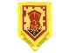 Part No: 22385pb045  Name: Tile, Modified 2 x 3 Pentagonal with Nexo Power Shield Pattern - Fist Smash