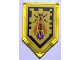 Part No: 22385pb091  Name: Tile, Modified 2 x 3 Pentagonal with Nexo Power Shield Pattern - Wasp Missile