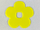 Part No: clikits054  Name: Clikits Icon Accent, Rubber Flower 5 Petals 4 1/4 x 4 1/4