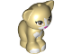 Part No: 11602pb09  Name: Cat, Friends / Elves, Sitting with Medium Nougat Eyes, Dark Pink Nose and White Patches Pattern