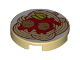 Part No: 14769pb274  Name: Tile, Round 2 x 2 with Bottom Stud Holder with Spaghetti Meatballs Pattern