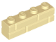 Part No: 15533  Name: Brick, Modified 1 x 4 with Masonry Profile (Brick Profile)