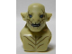 Part No: 16338pb01  Name: Minifigure, Head Modified Azog with Dark Tan Markings on Face and Chest, Light Blue Eyes Pattern