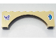Part No: 16577pb01  Name: Brick, Arch 1 x 8 x 2 Raised Arch with Lavender Butterfly on Left Side and Medium Azure Butterfly on Right Side Pattern (Stickers) - Set 41325