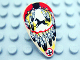 Part No: 2586px3  Name: Minifigure, Shield Ovoid with Feathers and Horse Pattern