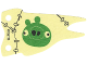 Part No: 26041  Name: Cloth Flag 8 x 4 Wave with Green Pig Face Pattern