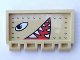 Part No: 2873pb08L  Name: Hinge Train Gate 2 x 4 with Eyes and Open Mouth with Pointed Teeth Facing Left Pattern (Sticker) Adventurers