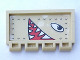 Part No: 2873pb08R  Name: Hinge Train Gate 2 x 4 with Eyes and Open Mouth with Pointed Teeth Facing Right Pattern (Sticker) Adventurers