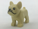Part No: 29602pb01  Name: Dog, French Bulldog with Black Eyes, Nose, Mouth and Whiskers and White Spot on Forehead Pattern