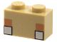 Part No: 3004pb226  Name: Brick 1 x 2 with Pixelated Minecraft White Eyes Pattern