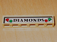 Part No: 3009pb054  Name: Brick 1 x 6 with 'DIAMONDS' Pattern (Sticker) - Set 4853