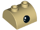 Part No: 30165pb02  Name: Brick, Modified 2 x 2 Curved Top with 2 Top Studs with Black Eye and White Pupil Pattern