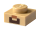 Part No: 3024pb002  Name: Plate 1 x 1 with Nougat and Brown Geometric Pattern (Minecraft Steve Mouth and Goatee)