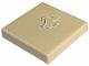 Part No: 3068bpb0138  Name: Tile 2 x 2 with Groove with Ferrari Logo, Black & White Horse Pattern (Sticker) - Set 8671