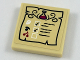 Part No: 3068bpb1124  Name: Tile 2 x 2 with Groove with Erlenmeyer Flask and Leaf, Mushroom and Cherries Healing Potion Recipe Pattern (Sticker) - Set 41187