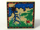 Part No: 3068bpx24  Name: Tile 2 x 2 with Map Blue Water, Tan Land, Red 'X', Red / Blue / Green Border Pattern