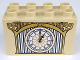 Part No: 31111pb038  Name: Duplo, Brick 2 x 4 x 2 with Clock with Roman Numerals and Winged B Pattern
