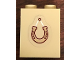 Part No: 3245cpb101  Name: Brick 1 x 2 x 2 with Inside Stud Holder with Hanging Horse Shoe Patter (Sticker) - Set 41126