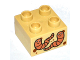 Part No: 3437pb083  Name: Duplo, Brick 2 x 2 with 2 Worms Pattern
