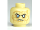 Part No: 3626bpb0632  Name: Minifigure, Head PotC Davy Jones Silver Eyes and Furrowed Brow Pattern - Blocked Open Stud