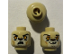 Part No: 3626bpb0881  Name: Minifigure, Head Dual Sided Alien Chima Lion with Orange Eyes, Brown Nose, Crooked Smile / Open Mouth Pattern (Leonidas) - Blocked Open Stud