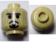 Part No: 3626cpb0580  Name: Minifigure, Head Black Beard and Moustache Rudimentary over Wood Grain Pattern (Voodoo Jack) - Hollow Stud