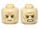 Part No: 3626cpb0949  Name: Minifigure, Head Dual Sided LotR Wrinkles and Sunken Eyes Worried / Angry Pattern (Grima) - Hollow Stud