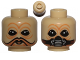 Part No: 3626cpb1119  Name: Minifigure, Head Dual Sided Alien with SW Ten Numb No Mask / Breathing Mask Pattern - Hollow Stud