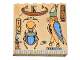 Part No: 3754px1  Name: Brick 1 x 6 x 5 with Hieroglyphs and Bird Pattern