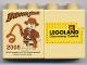 Part No: 4066pb328  Name: Duplo, Brick 1 x 2 x 2 with Indiana Jones Legoland Discovery Centre Pattern