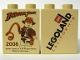 Part No: 4066pb329  Name: Duplo, Brick 1 x 2 x 2 with Indiana Jones Legoland California Pattern