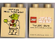 Part No: 4066pb336  Name: Duplo, Brick 1 x 2 x 2 with LEGO Store Master Builder Event Star Wars Yoda Pattern 2009