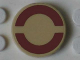 Part No: 4150pb149  Name: Tile, Round 2 x 2 with Dark Red SW Semicircles Pattern (Sticker)