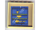 Part No: 59349pb016  Name: Panel 1 x 6 x 5 with Blue Trophy Cabinet Pattern (Sticker) - Set 4982