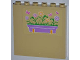 Part No: 59349pb052L  Name: Panel 1 x 6 x 5 with Flower Box and Butterflies Pattern Left (Sticker) - Set 3189