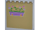 Part No: 59349pb052R  Name: Panel 1 x 6 x 5 with Flower Box and Butterflies Pattern Right (Sticker) - Set 3189
