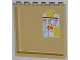 Part No: 59349pb059  Name: Panel 1 x 6 x 5 with Yellow Duck, Brush and Sponges Pattern on Inside (Sticker) - Set 3315
