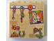 Part No: 59349pb152  Name: Panel 1 x 6 x 5 with Stable Wall with Ladybug, Lead Ropes, Brush, Horseshoe, Picture, and Ribbon Pattern