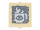 Part No: 60601pb025  Name: Glass for Window 1 x 2 x 2 with Coffee Cup with Skull and Steam Pattern (Sticker) - Set 70840