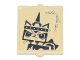 Part No: 60601pb027  Name: Glass for Window 1 x 2 x 2 with Angry Unikitty Pattern (Sticker) - Set 70840