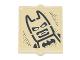 Part No: 60601pb028  Name: Glass for Window 1 x 2 x 2 with Batman with Black Batman Logo Pattern (Sticker) - Set 70840