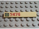 Part No: 6636pb031L  Name: Tile 1 x 6 with Lime Triangle on Metal Plate and Dark Red '7476' Pattern Left (Sticker) - Set 7476