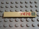 Part No: 6636pb031R  Name: Tile 1 x 6 with Lime Triangle on Metal Plate and Dark Red '7476' Pattern Right (Sticker) - Set 7476