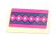 Part No: 85984pb102  Name: Slope 30 1 x 2 x 2/3 with Magenta Diamond Stripe Pattern (Sticker) - Set 41066