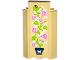 Part No: 87421pb032  Name: Panel 3 x 3 x 6 Corner Wall without Bottom Indentations with Lattice, Potted Plant, White Butterfly and Ladybird Pattern (Sticker) - Set 41108