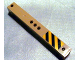 Part No: 91176pb001L  Name: Support 2 x 2 x 13 with 5 Pin Holes with Yellow and Black Danger Stripes Left Pattern (Sticker) - Set 3677