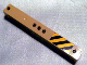 Part No: 91176pb001R  Name: Support 2 x 2 x 13 with 5 Pin Holes with Yellow and Black Danger Stripes Right Pattern (Sticker) - Set 3677