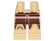 Part No: 970c00pb0684  Name: Hips and Legs with Armor and Reddish Brown Leggings Pattern