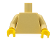 Part No: 973c67  Name: Torso Plain / Tan Arms / Yellow Hands